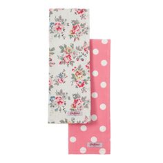 View All | Set of 2 Kingswood Rose & Button Spot Tea Towels | CathKidston