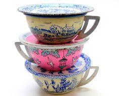 1930s - 1950s vintage toy tea cups
