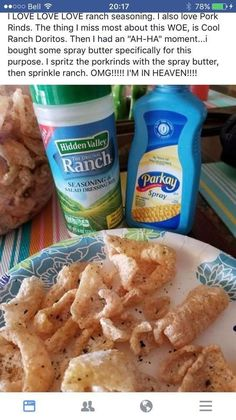 Theres of water in spray butter stuff. Water and pork rinds arent good together. Theres of water in spray butter stuff. Water and pork rinds arent good together. Keto Friendly Desserts, Low Carb Desserts, Low Carb Recipes, Cooking Recipes, Snack Recipes, Keto Snacks, Healthy Snacks, Think Food, Butter