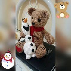 Amigos feitos de crochê