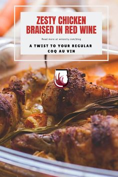 Chicken Braised in Red Wine Sangria Recipes, Brunch Recipes, Easy Dinner Recipes, Wine Recipes, Vegetable Recipes, Chicken Recipes, Fall Casseroles, Classic French Dishes, Wine Pairings