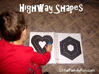 Subconsciously teach your kids how to draw shapes, letters, etc... They think they're just driving on a road, but little do they know they're learning... he he he. (Tricky mommy)