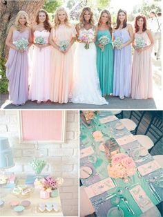 Pastell Hochzeit Inspiration