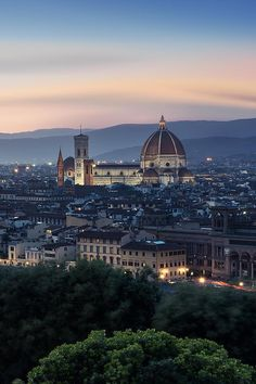 An Evening In Florence, Tuscany, Italy by Michael Woloszynowicz