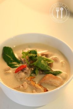 Tom Kha Kai! Yummiest Thai chicken soup!