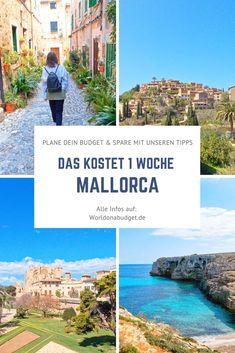Das kostet eine Woche Urlaub auf Mallorca mit allen Annehmlichkeiten. Wir geben dir einen Überblick über die Kosten und unser Budget sowie über die Preise auf Mallorca. Außerdem findest du auf dem Reiseblog noch ein paar schlaue Spartipps für deinen Urlaub. Klick dich rein.   #mallorca #kosten #preise #budget #spartipps #geheimtipps Menorca, Koh Tao, Spain Travel, Most Beautiful, Road Trip, Hiking, Budget, Europe, City