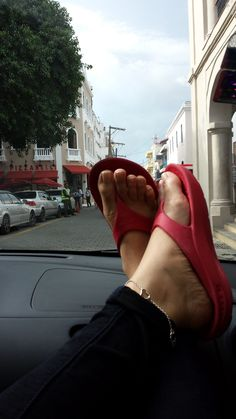 Old Town Dominican Republic...Fresh Cranberry Telic sandals