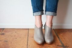 Such cute shoes! Ariana Bohling handmade leather booties exclusively for Mavenhaus collective