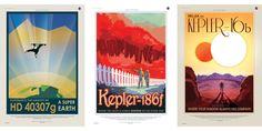 NASA Made These Gorgeous 1930s-Style Travel Posters for Earth-Like Exoplanets  - PopularMechanics.com