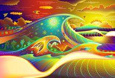 """Mike """"Nemo"""" Nemnich surf art nemo sprays unique style art matted prints"""