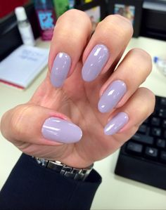 Purple Nails Revlon. Oval Nails 2014