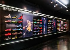 nike kobe 10 all star foot locker. Shoe Store Design, Steel Shoes, Kobe 10, Shoe Display, Retail Windows, Nike Store, Madison Square Garden, Sports Shops, Sports Brands