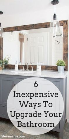 66 Super Ideas For Bath Room Diy Remodel Vanities Diy Bathroom Remodel, Bath Remodel, Bathroom Ideas, Wood Mirror Bathroom, Grey Bathroom Cabinets, Bathroom Mirror Makeover, Cozy Bathroom, Vanity Bathroom, Bathroom Modern