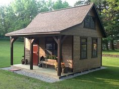 Amazing Shed Plans - A-Frame Cabins - Miller Storage Barns Now You Can Build ANY Shed In A Weekend Even If You've Zero Woodworking Experience! Start building amazing sheds the easier way with a collection of shed plans! Shed Design Plans, Wood Shed Plans, Free Shed Plans, Shed Building Plans, Barn Plans, Building Ideas, Plans Loft, Shed Roof Design, Building Permit