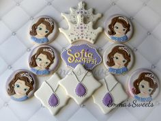 Sofia the First Cookies by Emma's Sweets | Cookie Connection