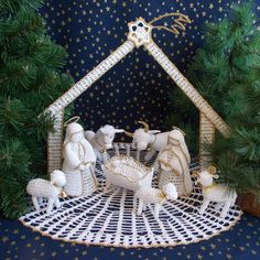 Crochet Applique Patterns Free, Christmas Crochet Patterns, Free Pattern, Nativity, Snowflakes, Tatting, Embroidery, Ornaments, Projects