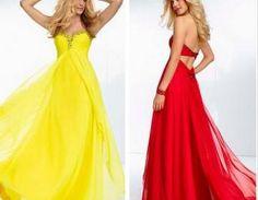 Red Dresses,Chiffon ...
