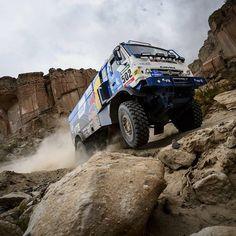 Our @kamaz_master keep climbing...! #desertwings #Dakar2016 #trucks by redbulldesertwings