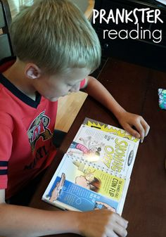This magic trick and prank book will get your child interested in reading. Click for more.