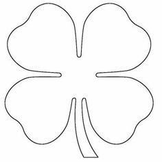 Trevo de 4 Folhas Diy Bordados, Bordados E Cia, Diy Flowers, Fabric Flowers, Paper Flowers, Diy Paper, Paper Crafts, Drawing Stencils, Wood Burning Patterns