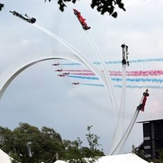Red Arrows on display at the Goodwood Festival of Speed UK