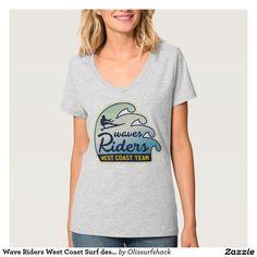 Wave Riders West Coast Surf design Tee Shirt