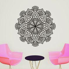 Mandala Om Yoga Flower Sign Wall Sticker Home Decor Wall Art Vinyl Wall Decals Decoration Mural