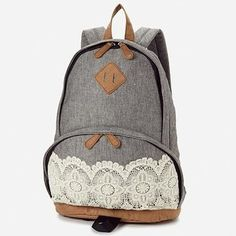 pretty lace detailed backpack