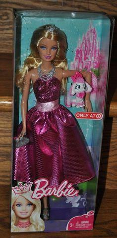 2010 Barbie Princess Pink Dress with Pet Dog / Puppy T7373 | eBay