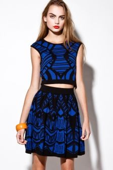 Fashion Crop Top Mini Skirt Matching Set