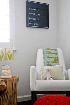 Joya Rocker by @Monte Mortensen Design - such a cozy corner for reading, rocking or nursing! #nursery #modern