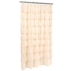 Lark Manor Rodemack Voile Ruffled Tier Shower Curtain Color: Ivory