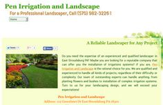 New Landscape Services added to CMac.ws. Pen Irrigation and Landscape in East Stroudsburg, PA - http://landscape-services.cmac.ws/pen-irrigation-and-landscape/47477/