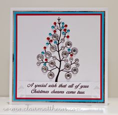woodware christmas bubble tree stamp www.clairmatthews.com