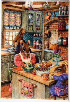 """December 23: Christmas Baking"" by Susan Wheeler (1986)"