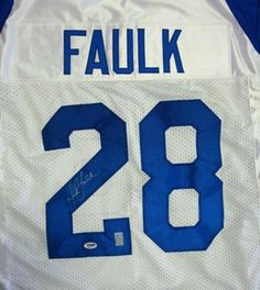 ... Nike Signed Marshall Faulk Jersey - White - PSADNA Certified -  Autographed NFL Jerseys by Mitchell Ness Marshall Faulk Indianapolis Colts  ... e22856e4c