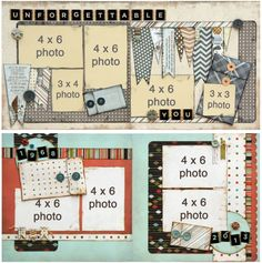 Fancy Pants Swagger- note to self- use ideas with Blissful Blizzard for winter pics. Scrapbook Layout Sketches, Scrapbook Templates, Scrapbooking Layouts, Card Sketches, Travel Scrapbook, Scrapbook Cards, Scrapbook Generation, 6 Photos, Fancy Pants