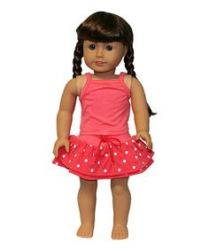 Another great find on #zulily! Pink Polka Dot Doll Outfit by The Serendipity Doll Company #zulilyfinds