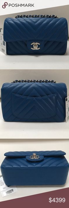 ✨BRAND NEW ✨💯AUTHENTIC CHANEL MINI BLUE CAVIAR BRAND NEW/ STORE FRESH/ PRISTINE CONDITION CHANEL MINI FLAP CAVIAR BLUE COLOR WITH SLIVER HARDWARE. COME WITH ORIGINAL BOX, DUST BAG, AUTHENTICITY CARD AND BOOKLET                               ❌NO TRADE                                                                       MORE INFO BOONBTCHYNNGHTY@AOL.COM CHANEL Bags Crossbody Bags