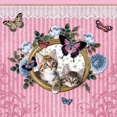 Servet 'koninklijke katjes'