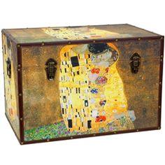 Art Print Works of Klimt Storage Trunk, display props for stores