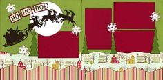 Christmas 2 page scrapbook layout using Cricut and OMFL Border Maker tree