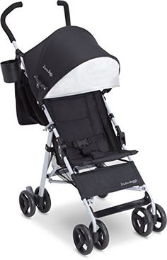 J is for Jeep Brand North Star Stroller, Black/Grey - The J is for Jeep Brand North Star Stroller is the perfect stroller for the family on the go. It features exceptional comfort, convenience and safety with features that include: a removable carry-all parent organizer that's designed to securely hang from the back, extra-large extendable canopy wi...
