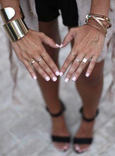 essie - marshmallow manicure & pedicure