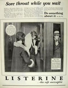Original vintage magazine ad for Listerine featuring a great photo of people in old pay phone booths. A nice vintage piece! Publication Year: 1928 Approximate Ad Size (in inches): 10 x Condition: Very good Old Advertisements, Retro Advertising, Retro Ads, Vintage Ads, Magazine Ads, Magazine Covers, Beauty Ad, Listerine, Old Ads