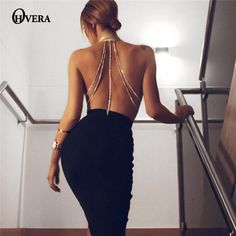 Cheap summer dress, Buy Quality strap dress directly from China robe summer Suppliers: OHVERA Party Robe Summer Dress 2017 Women Summer Slim Bodycon Vestdios solid sexy halter Backless Diamond metal straps dresses Summer Dresses 2017, Cheap Summer Dresses, Women's Fashion Dresses, Sexy Dresses, Evening Dresses, Skater Dresses, Classy Outfits, Sexy Outfits, Vestidos Halter