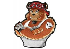 Biker Bear Large Patch