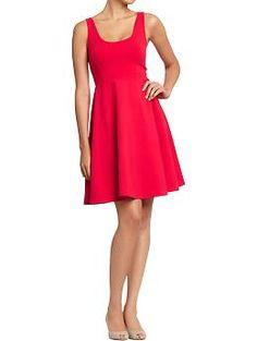 Women's Flared Jersey Dresses