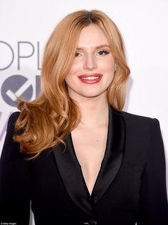 Made up to get noticed:The 17-year-old Shake It Up star wore her strawberry blonde locks slightly curled at the ends