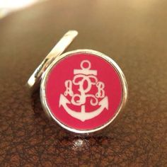Monogram Anchor earrings